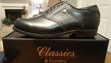VINTAGE Footjoy Classics Dry Mens Golf Shoes 51427 NEW Black 9E Made in USA