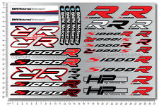 bmw s1000R motorrad motorcycle decal set sheet 36 quality stickers s1000 R hp4