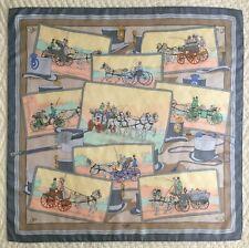 Vintage~Very Rare~HERMES~Attelages~Hugo Grygkar~100% Silk~Scarf~90 cm~France
