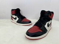 Nike Air Jordan 1 Retro High OG Bred Toe Gym Red/Black 555088 610 Size 10