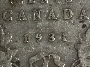 1931 Canada Silver Half Dollar VERY Key Date Fifty Cents 80% silver coin
