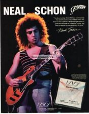 1982 VINCI Guitar Strings NEAL SCHON of Journey Vtg Print Ad