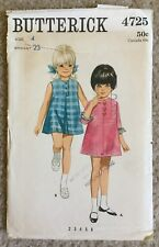 Vintage '60s Butterick Child's Inverted Pleat Dress Cut Sewing Pattern 4725