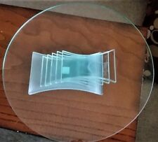 Partylite Stratus Tiered Glass Candle Holder Pedestal Plate