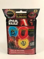 illooms LED LIGHT UP STAR WARS BALLOONS Party 5 Pack - 2 Blue, 2 Red, 1 Yellow
