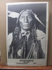 Vint Blk & White Indian Poster Ho' Nihewoomah wolf Robe Cheyenne 1841-? in#G181