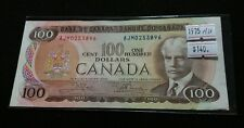 Canada 1975 $100 Dollar Banknote AUNC Crow-Bouey AJM prefix High Grade Nice Note