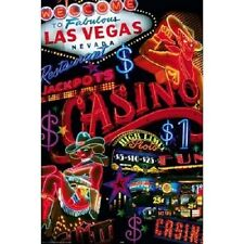 "Las Vegas Nevada photography poster 24x36"" Casino Signs"