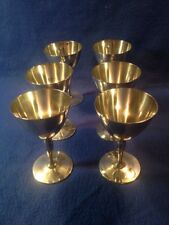 Vintage Tiffany&Co. Set Of 6 Sterling Silver Wine Goblets Size 2-5/8x4 Inch Tall