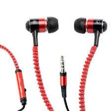 Ecouteurs Fermeture Eclair Casque Micro Intra-auriculaire Baladeur Audio Music_E