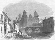 ITALY. Motu Proprio 1847. Ferrara-The Castle, antique print, 1847