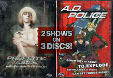 A.D. Police To Protect & Serve Complete Series + Parasite Dolls Double Pack NEW