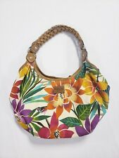 Relic by Fossil Floral Canvas Hobo Bag Purse Satchel Birds of Paradise Flowers