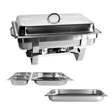 Chafing Dish CHEF Speisewärmer 4 x GN Behälter Warmhaltebehälter Warmhalter