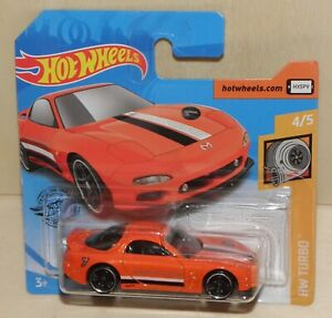 "2020 Hot Wheels '95 MAZDA RX-7 orange ""Mazda Speed"" HW Turbo 4/5 # 43/250 GHD02"