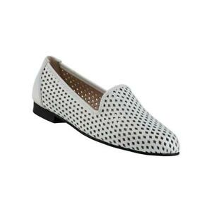 Perfor White Patent Leather Jon Josef Loafer Flat