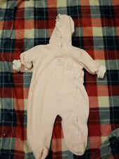 Baby Girls Babyworks Flower Coverall Size 3/6 Months Euc