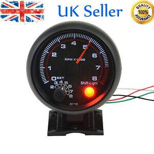 Universal Car Auto Tacho Rev Counter Gauge Tachometer + Red LED RPM Light