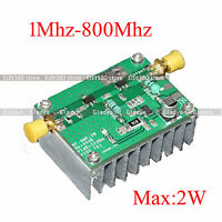 42dB 1Mhz-800Mhz 433Mhz RF UVF Linear power Amplifier HF Leistungs-Verstärker FM