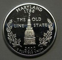 2000-S Maryland Gem DCAM Silver Proof State Quarter Stunning Coin