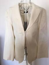 RRP$461 Max&CO by max mara white 3/4 sleeve blazer jacket I44 F42 UK12 US8
