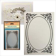 Deco Frame Oval Embossing Folder Nellie Snellen Folders EFE022 Scrolls Swirls