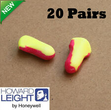 20 Pairs EarPlug Howard Leight LASER LITE LL-1 Disposable Uncorded Foam 32Db