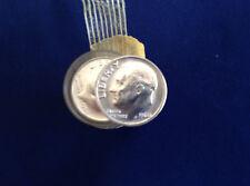 1960-P Roosevelt Silver Dimes BU Original Roll of 50 Coins E4822