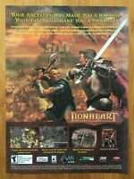 Lionheart: Legacy of the Crusader PC 2003 Vintage Poster Ad Print Art Official