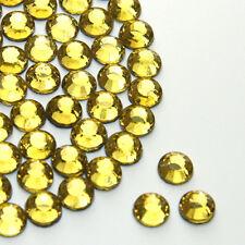 Light Topaz Flat Back Rhinestones Diamante Gems Hotfix/Glue on AAA Quality
