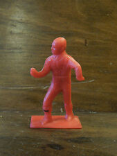 Vintage Plastic Toy Soldier Army Red Arms Open to Hold Item Missing Weapon