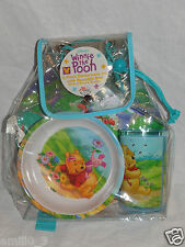 NEW DISNEY WINNIE THE POOH  3 PIECE DINNERWARE SET PLATE, BOWL AND TUMBLER
