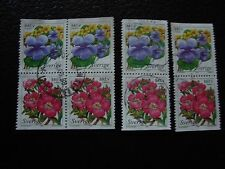 SUEDE - timbre yvert et tellier n° 2043 2044 x4 obl (A29) stamp sweden