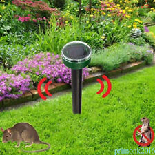 Ultrasonic Solar Power Repeller Mouse Mice Mole Snake Rodent Outdoor Garden Yard