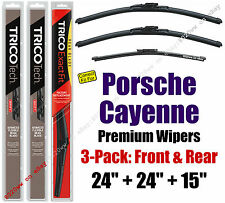 Wipers 3pk Premium Front Special Rear fit 2013-2018 Porsche Cayenne 19240x2/15i