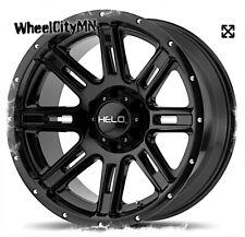 17 x9 inch gloss black Helo HE900 wheels fits Toyota Tacoma 4 Runner 6x5.5 -12