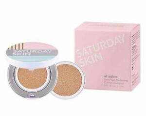 Saturday Skin All Aglow Sunscreen Perfection Cushion SPF 50. (06 Goldie)+Refill