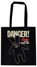 THE STRANGLERS BLACK COTTON TOTE BAG BEAR CAGE BONDAGE TEDDY PUNK ROCK 1977
