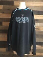the best attitude 92fd9 5cbfe San Jose Sharks Vintage Black Sweater Crewneck Pullover 2xl Measurements