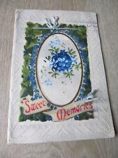 Vintage Christmas card - Sweet Memories, paper & plastic piece tied on string