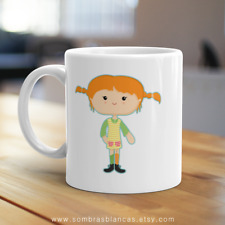 Pippi Longstocking White Ceramic Mug 11oz