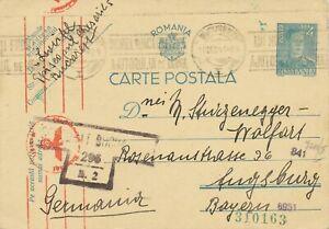 RUMÄNIEN 1920/48, 3 versch. Zensurbelege m. interess. Stempel, Pra.-Lot
