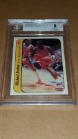 1986 Fleer Michael Jordan Rookie Basketball Card Sticker BGS 8 Perfect Centering