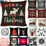 18 x 18 Inch Merry Christmas Xmas Designed Throw Pillow Case Cover Cushion Decor
