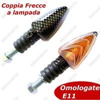 COPPIA FRECCE MOTO ARROW CARBON LOOK OMOLOGATE GAMBO CORTO