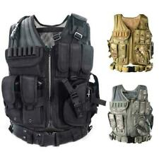 Adjust Tactical Military Airsoft Molle Combat Army Vest Carrier Unisex I4N6