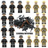 WW2 Army Military British v Ger + Weapons Guns Mini Figures fit lego UK SELLER