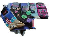 Hot Sox Womens Original Crew Socks Lot of 5 pairs-Flowers. Squirrel, Bird NWT