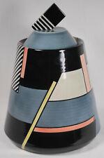 Vintage Michael Duvall Signed Postmodern Neo Art Deco Cookie Jar 1982