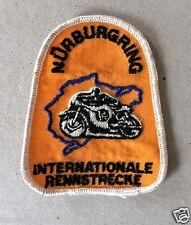 Vintage Sew-on Patch Nurburgring International Race Track, Motorcycle